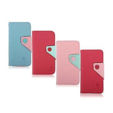 Dual Colors PU Leather Card Slot Case Cover For iPhone 5 5S