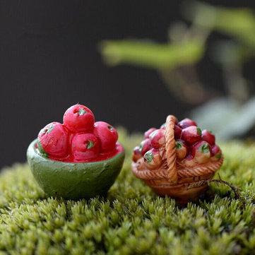 Mini Meyve Sepeti Yosun Mikro Manzara Bahçe DIY Dekorasyon