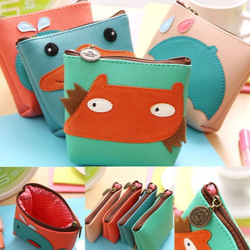 Mini Cute Cartoon Animal Women Lady Key Coin Case Bag Wallet Zipper Pouch Purse