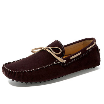 Mens Leather Casual Slip On Loafer Moccasins Driving Car Boat Flats Shoes