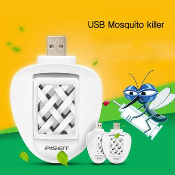 Pisen eco friendly usb mosquito elétrico repelente de carro do curso assassino repelente com 2 esteiras