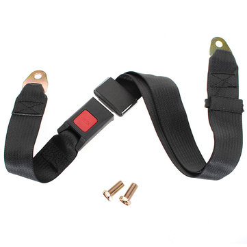 Black Car Seat Belt Lap Belt