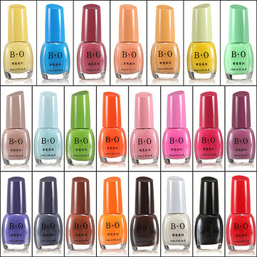 Fashion Flavorful Candy Color Nail Art Polish Lacquer Varnish 10ml
