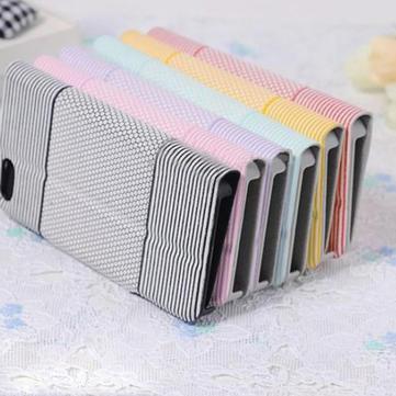 Football Grain Pattern Slim Stripe Flip Leather Case For iPhone 5 5S
