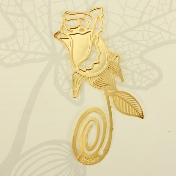 Reading Creative Golden Rose Style Bookmark Book Marks Child Gift