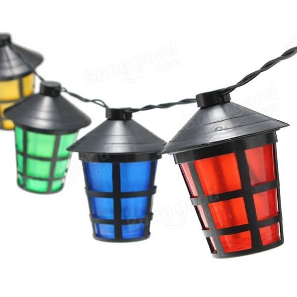 8m 40 Led Solar Powered Hanging Lantern Light Long String Lamp Outdoor Garden