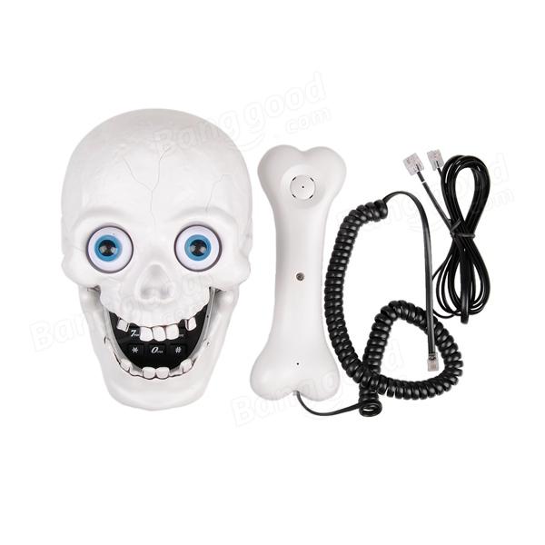 Halloween White Skull LED Eyes Designer Home Phone Telephone ...
