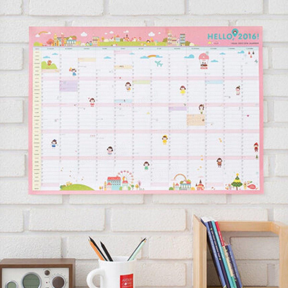 New 2016 Calendar Wall Calendar Monthly Planner Paper