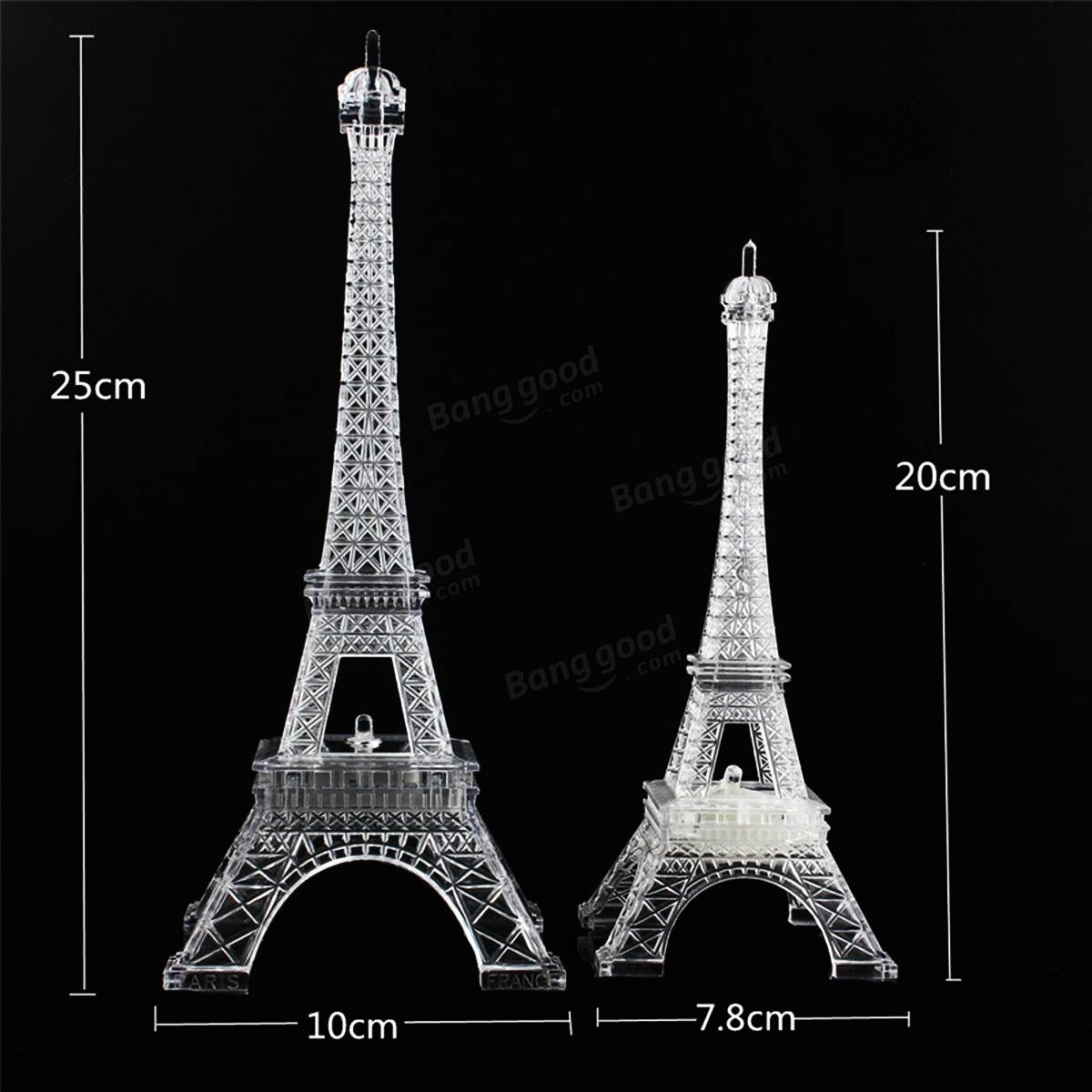Perunggu Nada Paris Menara Eiffel Miniatur Patung Model Vintage Source · Mini Color Changing Eiffel Tower