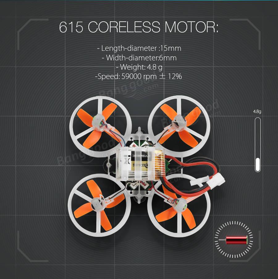 Eachine E010S 65mm Micro FPV Racing Quadcopter con 800TVL CMOS Basado en F3 Controlador de Vuelo del Cepillo