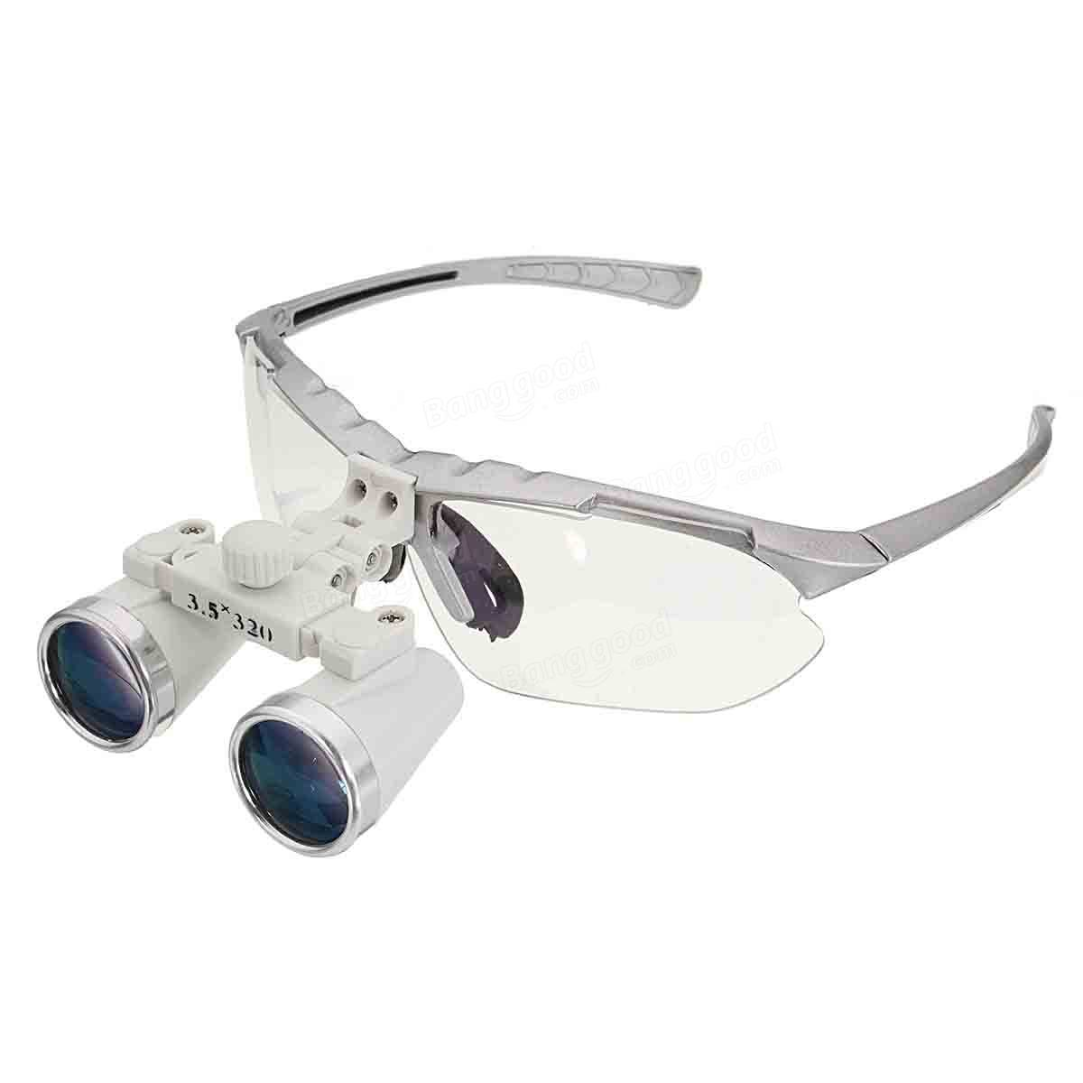 3 5x 320mm Dental Surgical Binocular Loupes Optical Glass