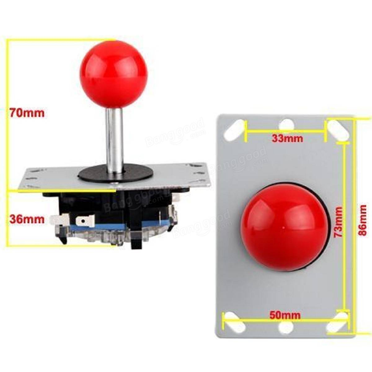 1Pc DIY Arcade 8 Way Joystick Replacement Parts for Fighting Game Competition