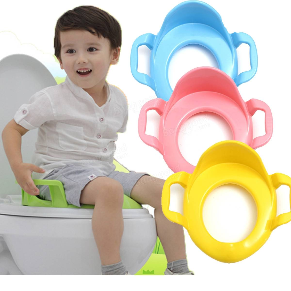 Children Kids Baby Toddler Potty Seat Cushion Toilet Urinal Training Stand Stool With Handle  sc 1 st  Banggood & Children Kids Baby Toddler Potty Seat Cushion Toilet Urinal ... islam-shia.org