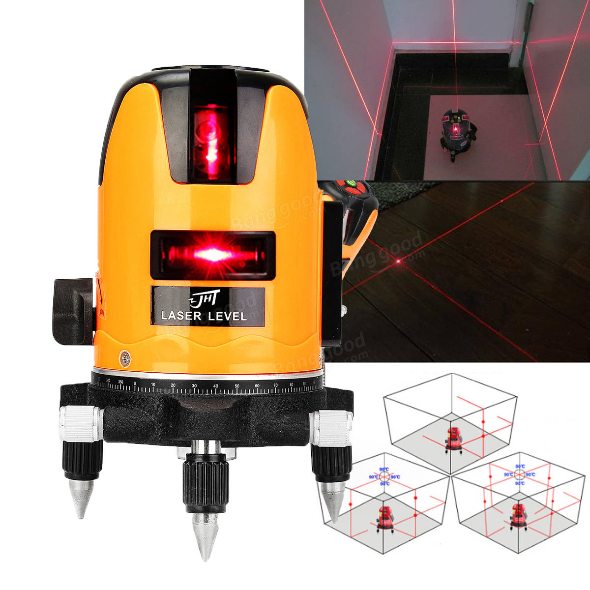 automatic leveling 5 line cross laser level measure tool 360 degree