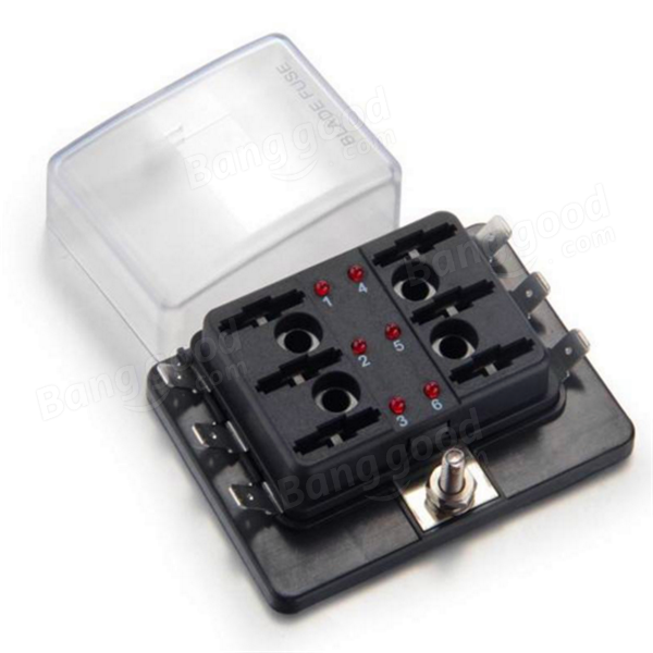 6 way blade fuse box holder positive bus in 12v led warning kit 6 way blade fuse box holder positive bus in 12v led warning kit car boat marine