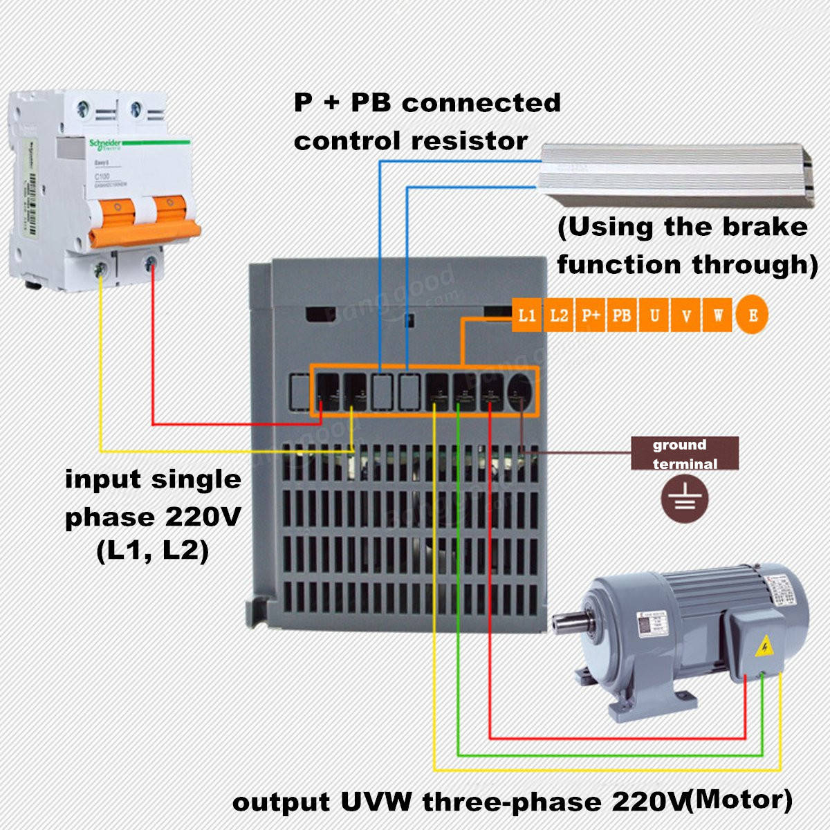 2 2kw 3ph 380v vfd inverter vfd drive variable frequency for Variable speed controller for single phase motor