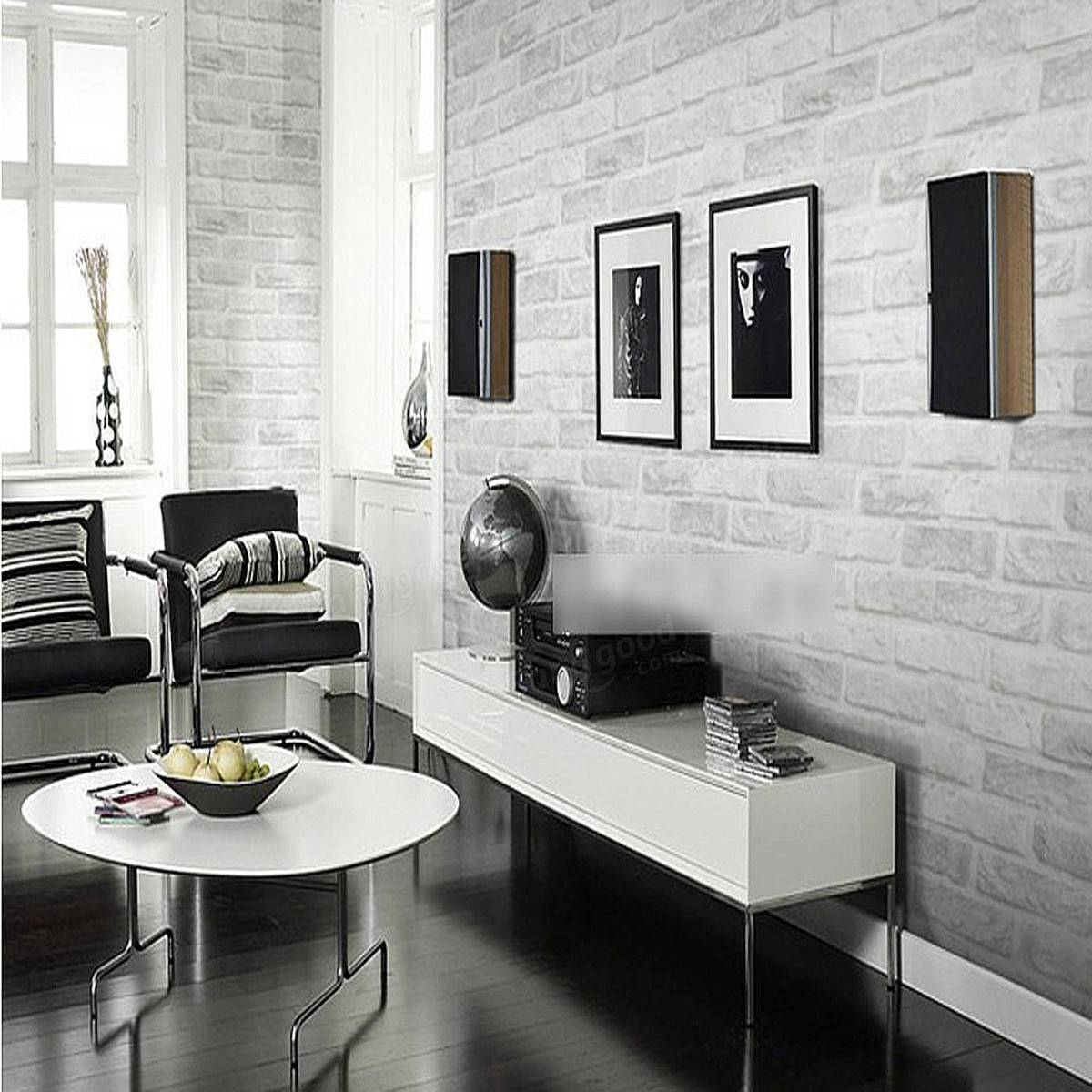 3D Wallpaper For Home 3D Brick Pattern Wallpaper Roll White Grey Textured Wallpaper Home