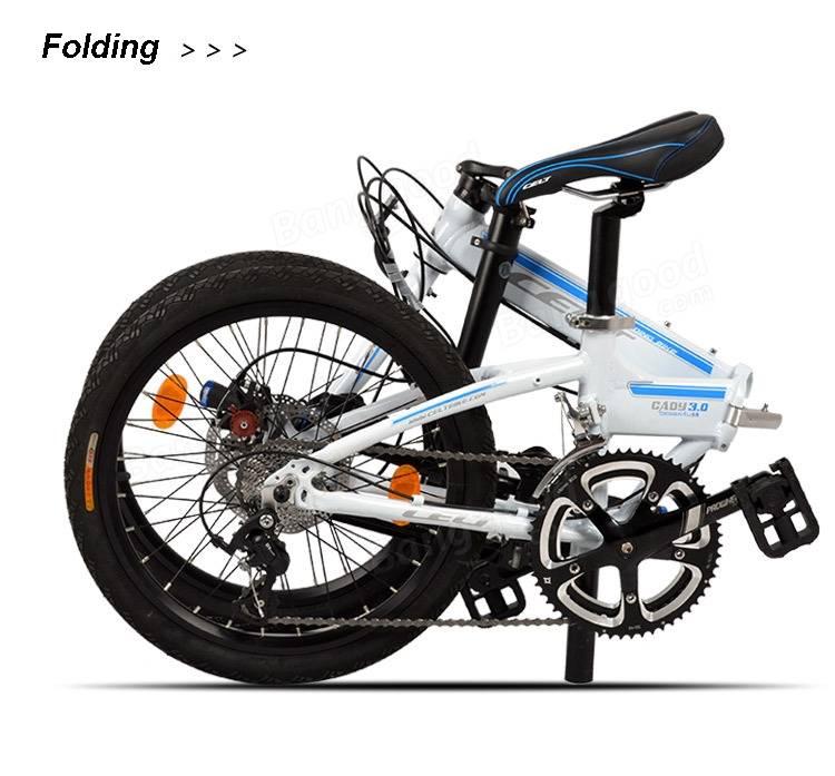 20 inch folding bike bicycle foldable mini bike aluminum alloy frame 18 speed sale banggood. Black Bedroom Furniture Sets. Home Design Ideas