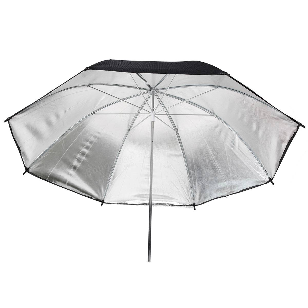 83cm 33inch black silver umbrella flash stroboscopique r flecteur de lumi re accessoires de - Reflecteur de lumiere fait maison ...