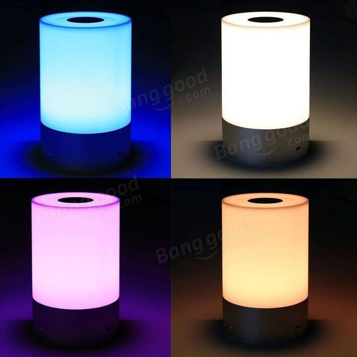 Rechargeable LED Touch Sensor Color Changing Smart Atmosphere Night Light  Dimmable Table Lamp