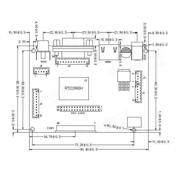 10.1 pulgada 1280x800 exhibición del hd TFT Kit de módulo lcd para Raspberry Pi