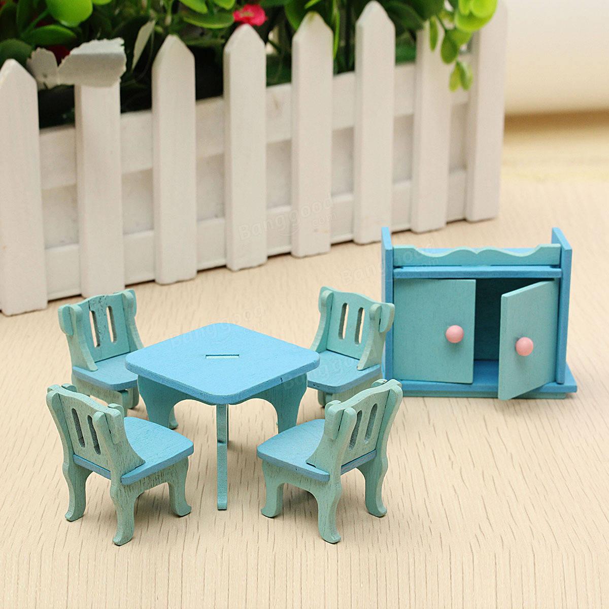 casa de muecas de madera casa de muecas sala de comedor en miniatura juegos de nios