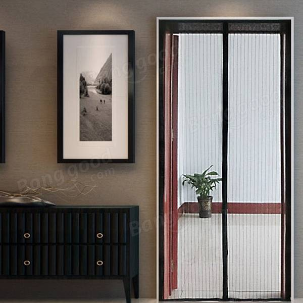 90x210cm Anti Mosquito Pest Curtain Net Door Mesh Automatic Closing Insect Protect Sheer Curtain & 90x210cm Anti Mosquito Pest Curtain Net Door Mesh Automatic ...