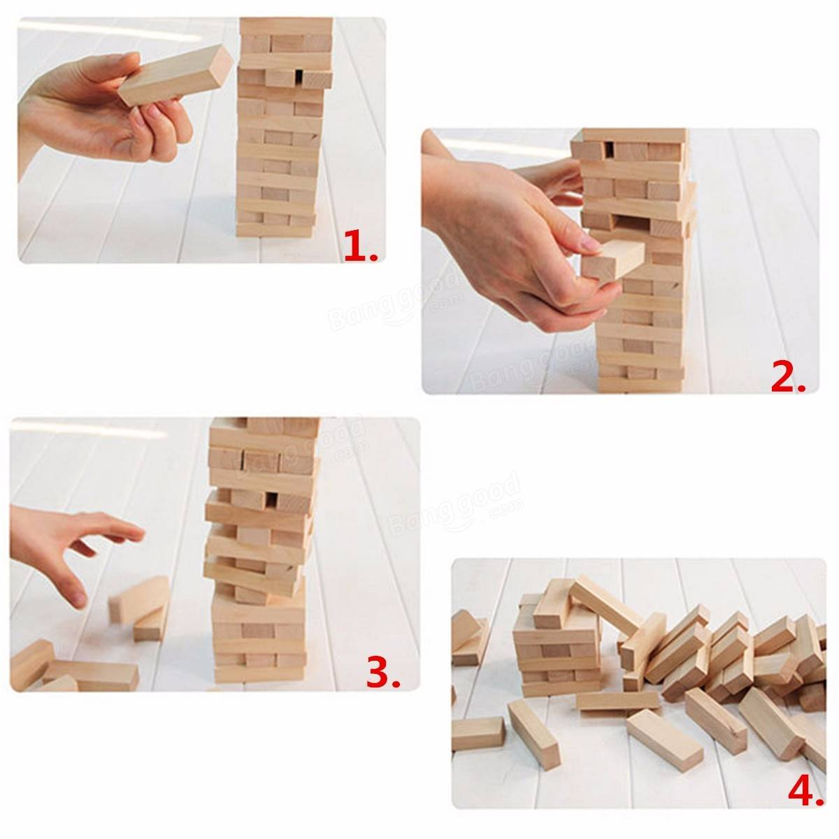 how to play tumbling tower wooden block game