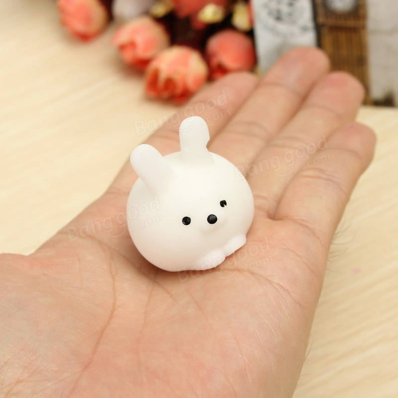 Bunny Ball Squishy Squeeze Cute Healing Toy Random Color Kawaii Collection Stress Reliever Gift ...