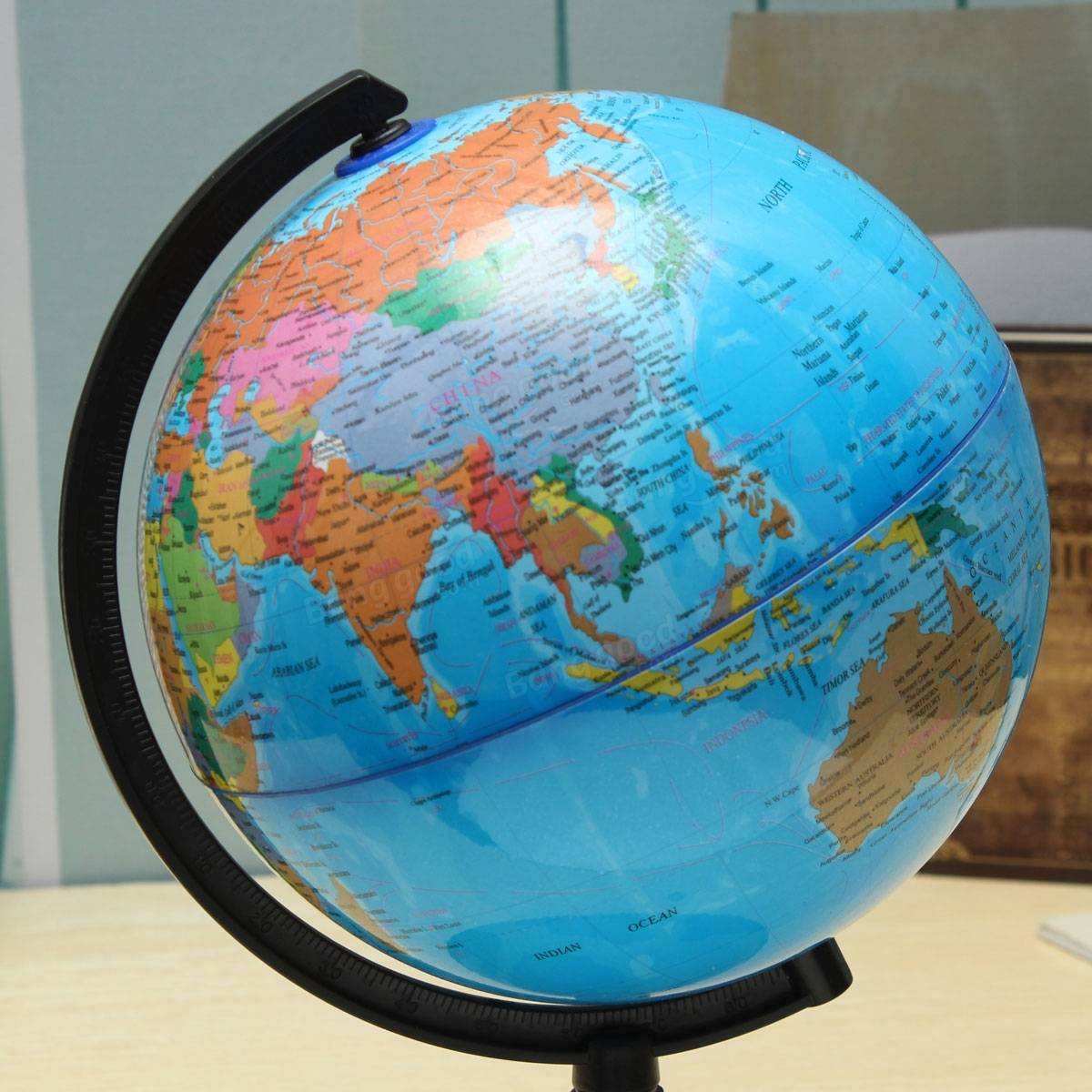 Cm Blue Ocean World Globe Map With Swivel Stand Geography - Earth globe map
