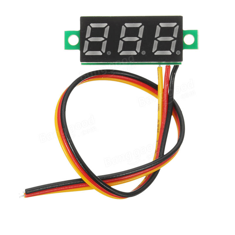 0.28 Inch Mini Digital Voltage Checker DC 0-100V 3 Cables with Protection