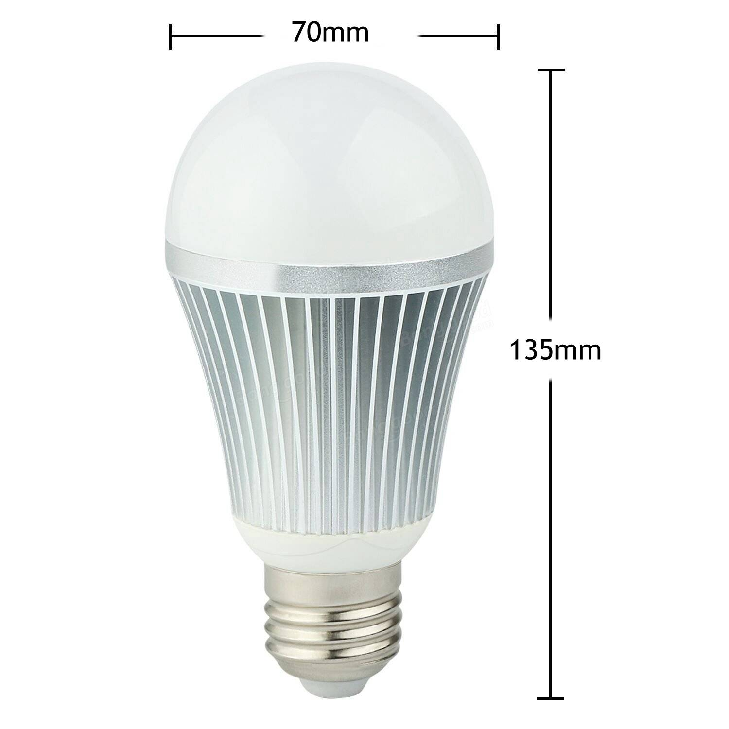 ARILUX® E27 9W Color Changing LED Globe Light Bulb With 2