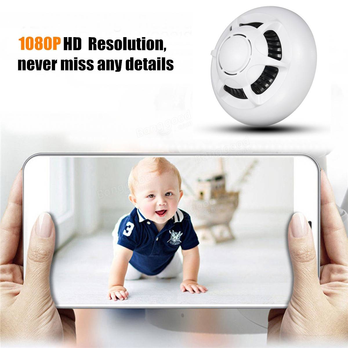 WiFi HD 1080p Camera IP Hidden Security Smoke Detector DVR Mini DVR Nanny Cam