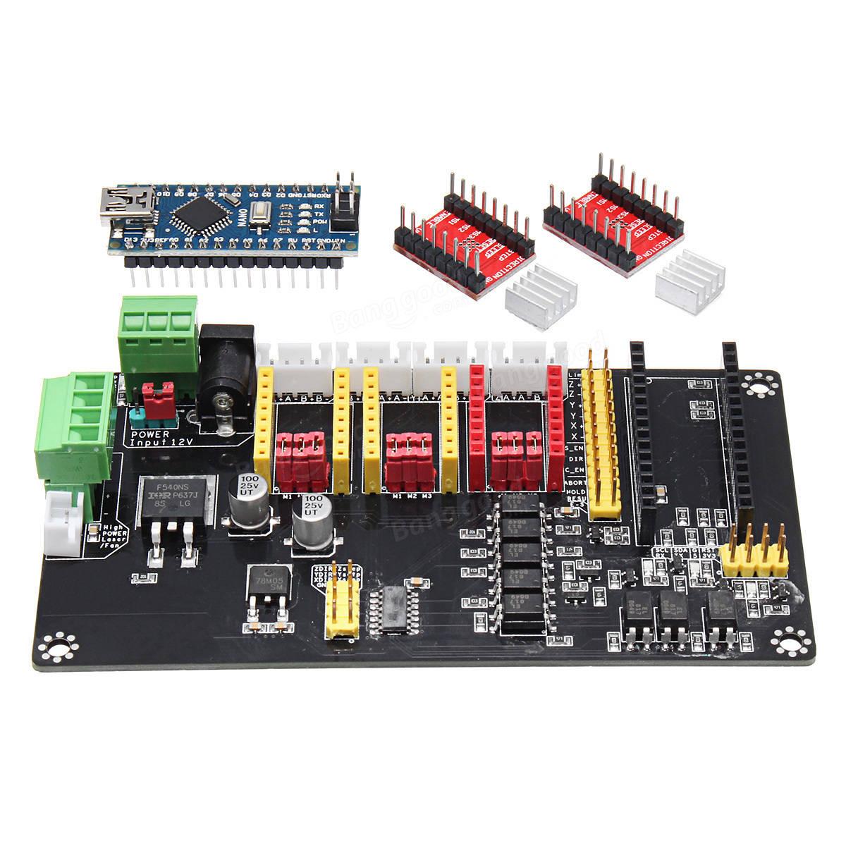 3 axis usb cnc arduino nano controller a4988 stepper motor