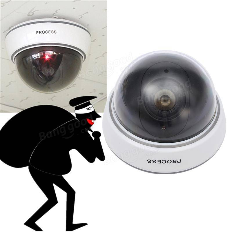 Fake Dummy Simulation Dome Camera Security Camera Red LED Blinking Light  Camera Indoor Outdoor