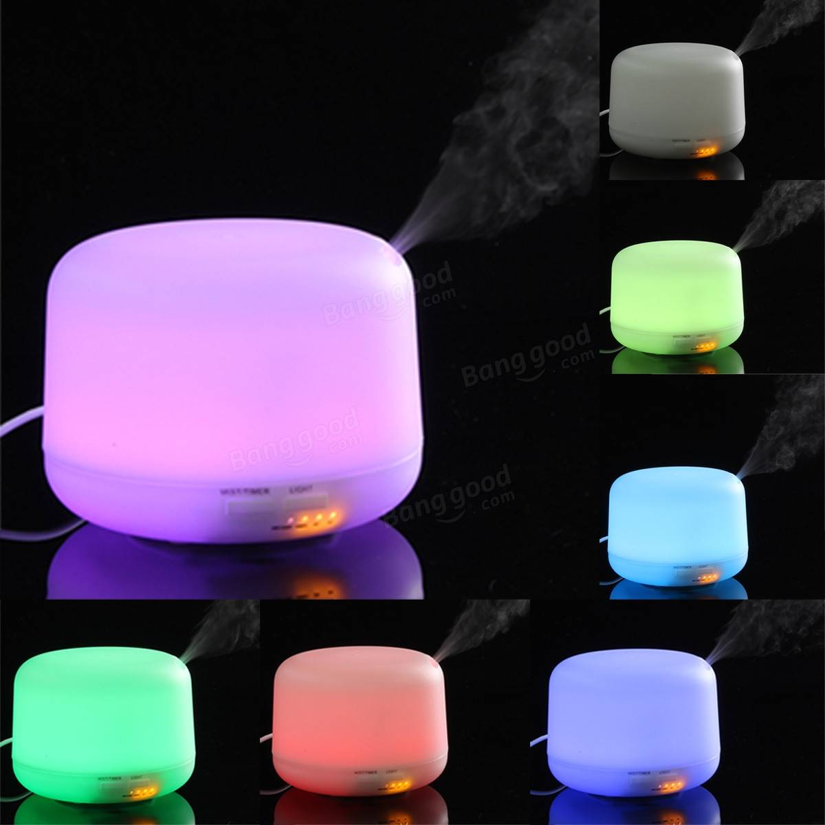 Aroma night lamps - Led Air Diffuser Purifier Atomizer Ultrasonic Aroma Cool Mist Humidifier Night Light For Home