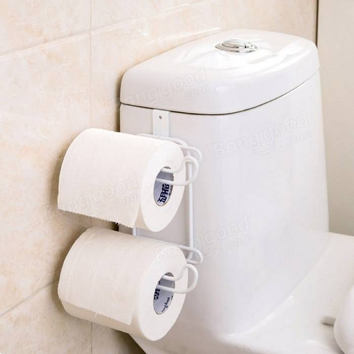 multifunction two-layer door back iron toilet tissue holder