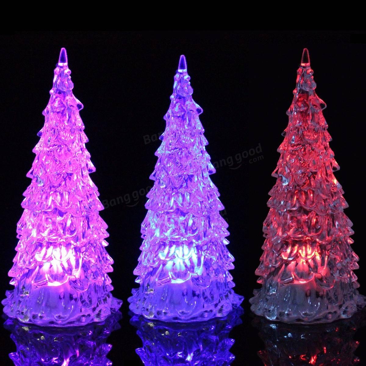 Colorful LED Mini Crystal Light Christmas Tree Christmas ...