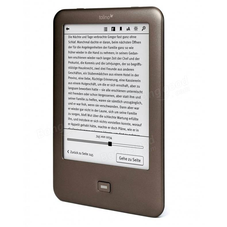 Tolino Shine WiFi E-ink 6 Inch Touch Screen 1024x758 eBook Reader Built in Light