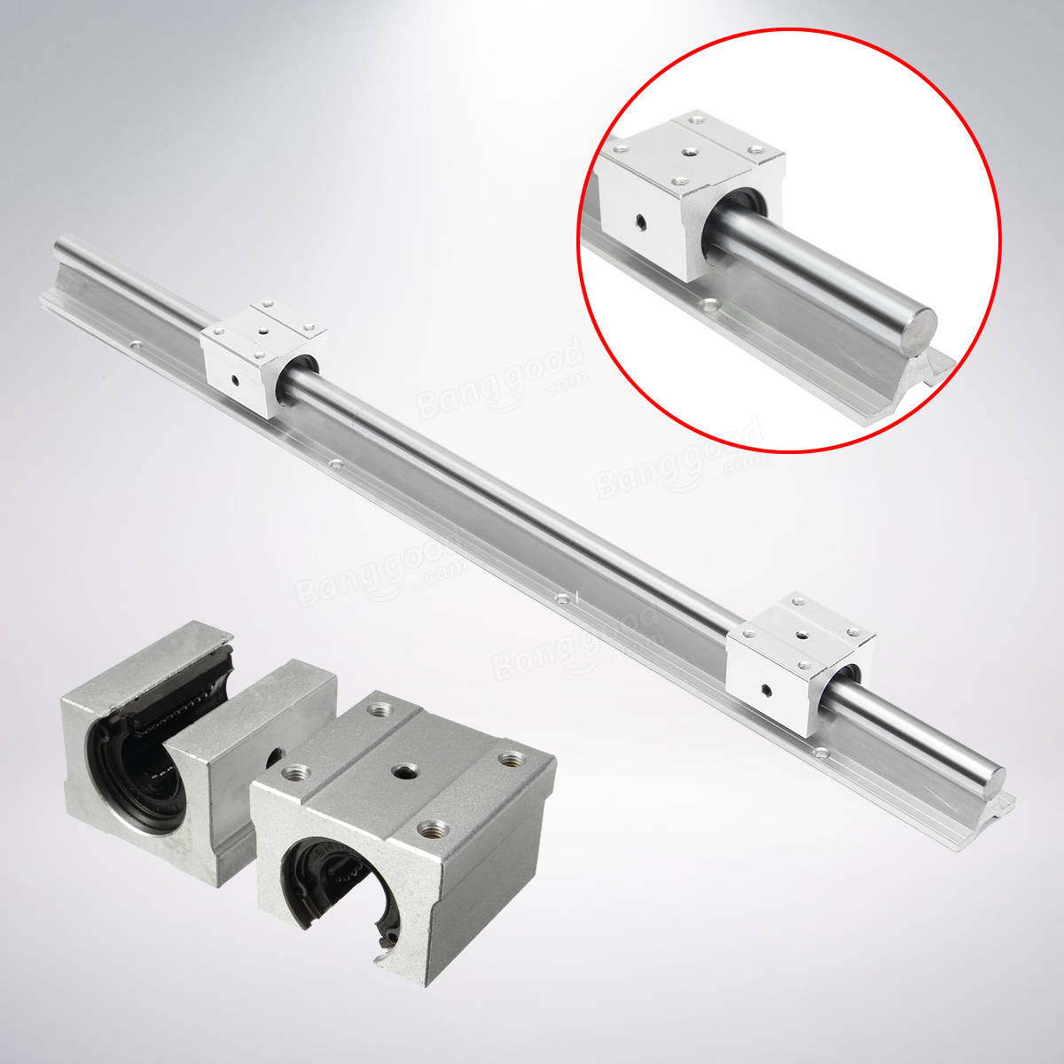 Support Linear Rail SBR16-600mm Optical Axis Guide + 2 ...
