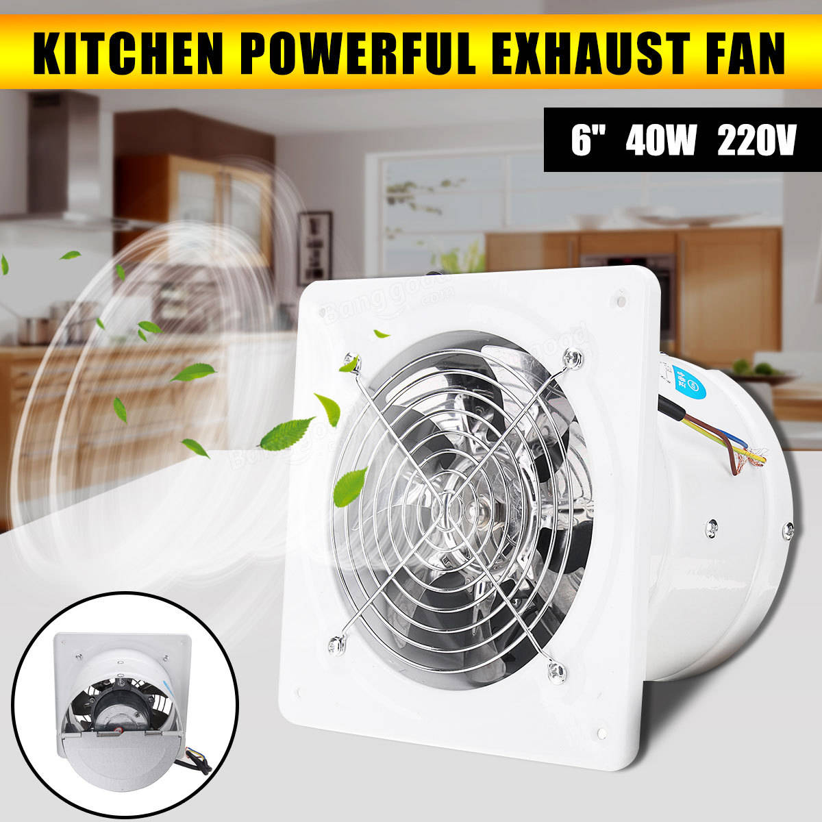 Original 6 Inch 40w Inline Duct Booster Fan Extractor