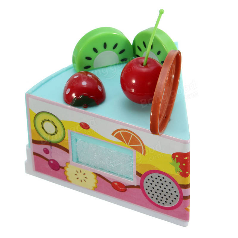 Play Kitchen Food 54pcs diy fruit cake knife garnish cutting play kitchen food kids