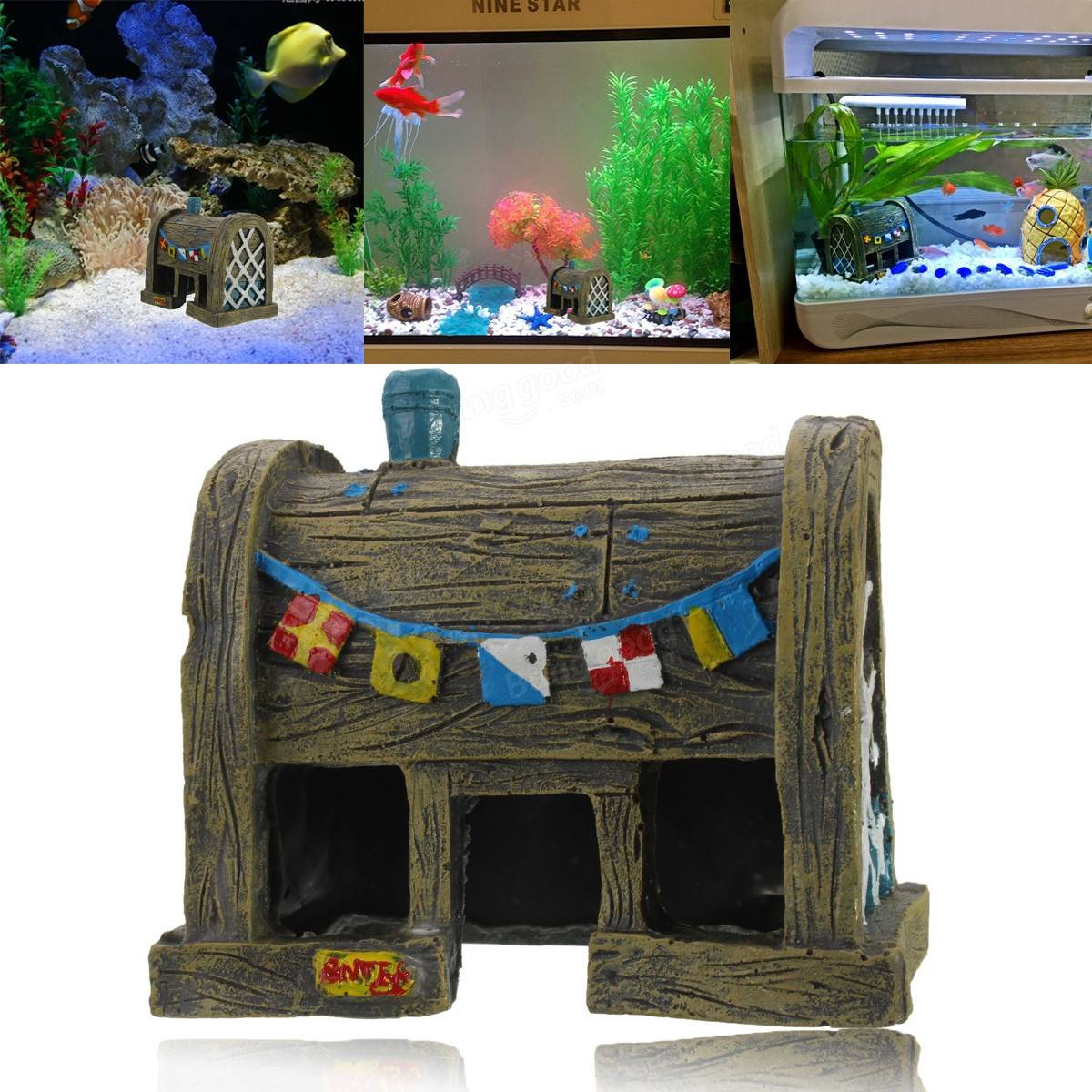 Aquarium landscape decoration resin simulation ancient for House decoration simulator
