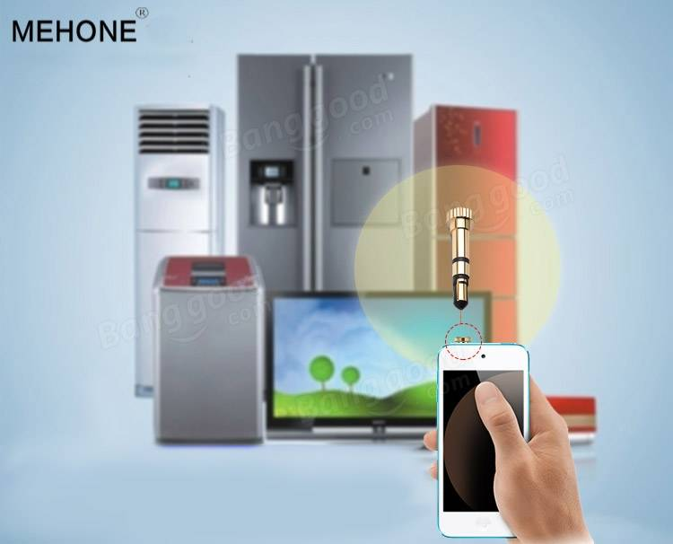 Mehone Infrared Remote Control Appliances With Dust-proof Plug for iPhone Samsung Sony HTC Meizu