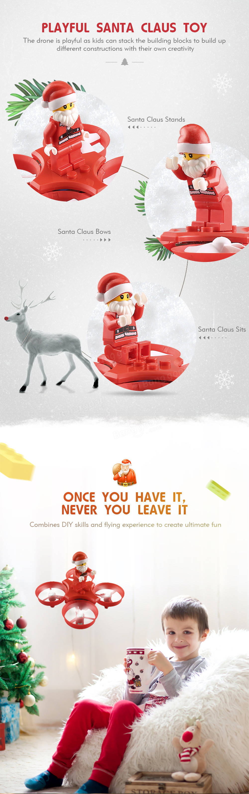 eachine e011c flying santa claus with christmas songs 716 motor