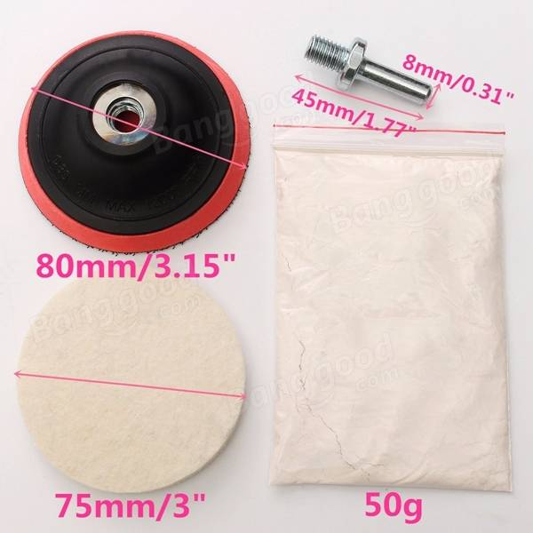 buffing wheel for drill. car polishing kit cerium oxide powder felt wheel pad drill adapter buffing for