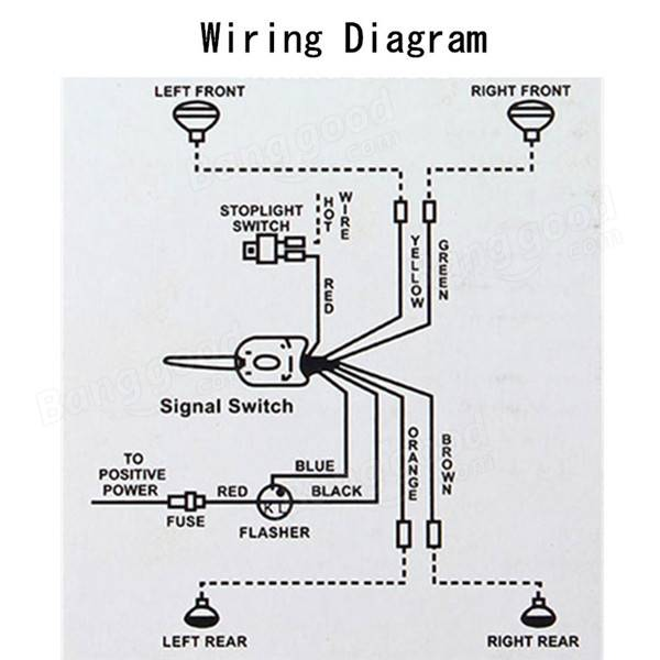 Universal Turn Signal Wiring Diagram on street rod wiring harness