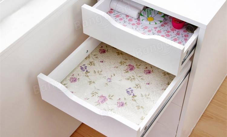 200CM Flower Dots Sticker Shelf Cabinet Drawer Liner