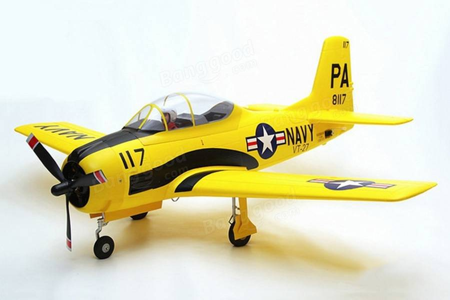 Eleven Hobby T-28 T28 Trojan Customized Yellow 1100mm 43 Wingspan Warbird PNP