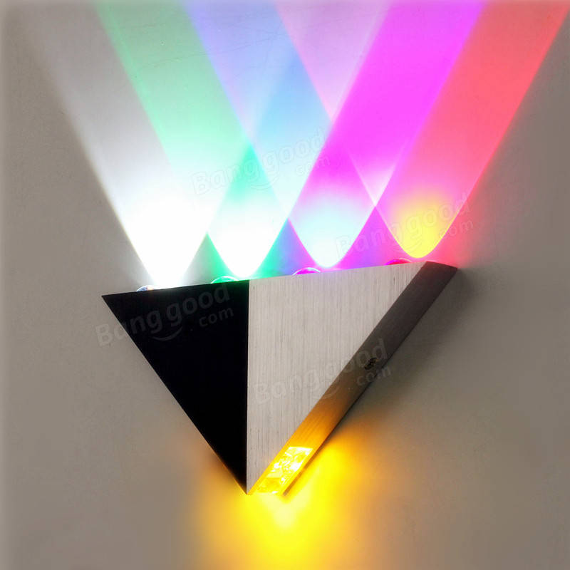 Solid Wall Lamp Led 3w Indoor Wall Light Aluminum Up Down: Multi-Color Triangle 5W LED Wall Sconce Lamp Up & Down